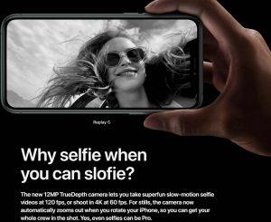 Apple, iPhone 11 изображение с slofie, замедленная селфи